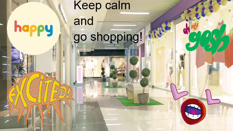 Keep calm- shopping
