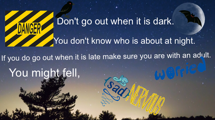 Being safe when going out in the dark