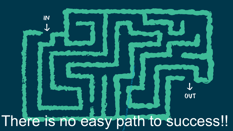 There is no easy path to success