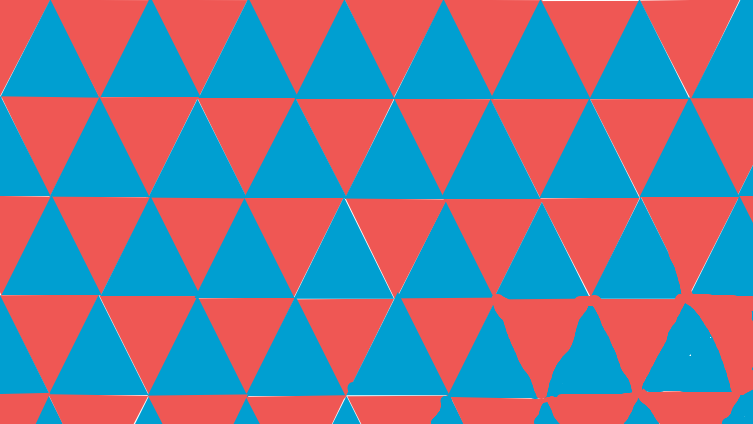 Triangle tessellation (red + blue)
