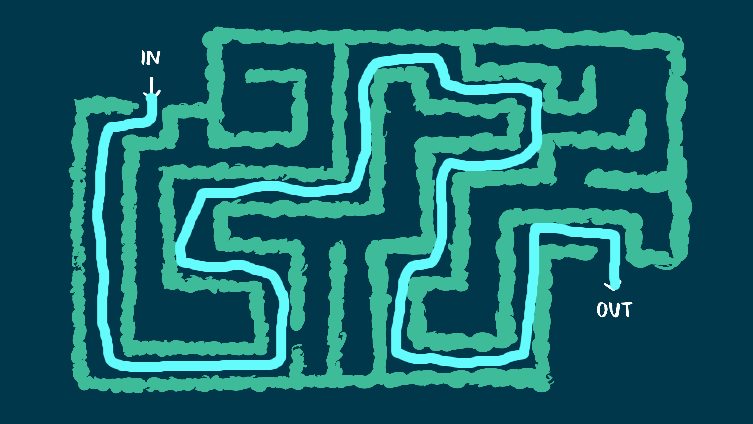 how to get through the maze