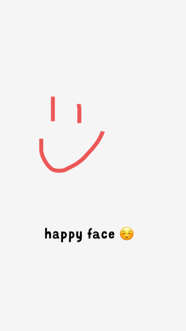 happy face :)