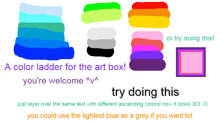 Color ladder + things to try!