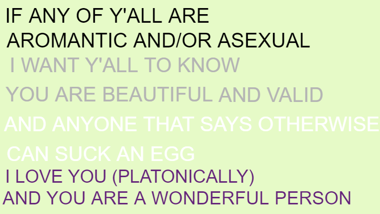 A MESSAGE FOR MY FELLOW ARO ACE BRETHREN