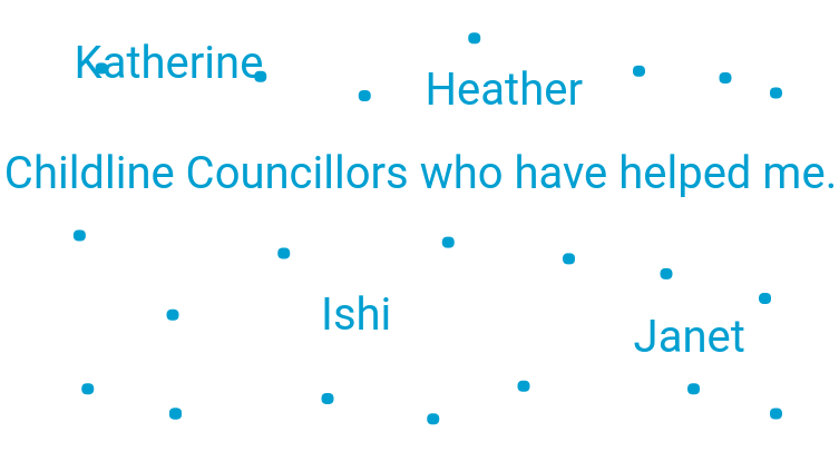 Childline Councillors who have helped me
