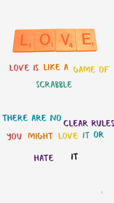 Love Is like Scrabble