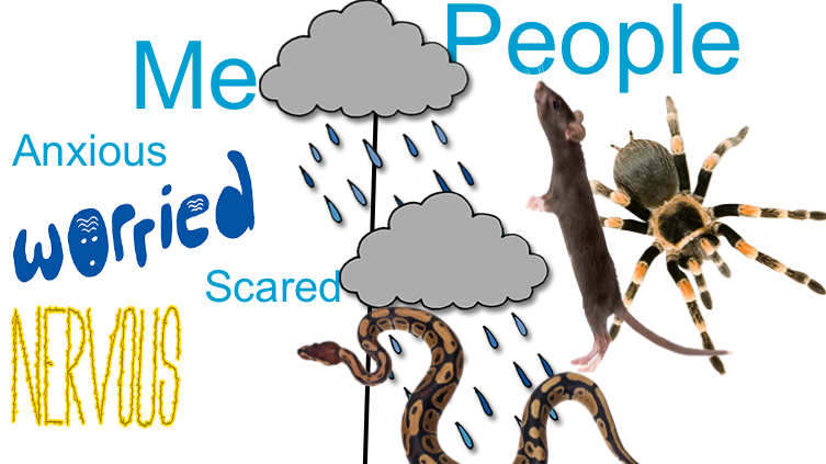 I am scared of people (also I like snakes)
