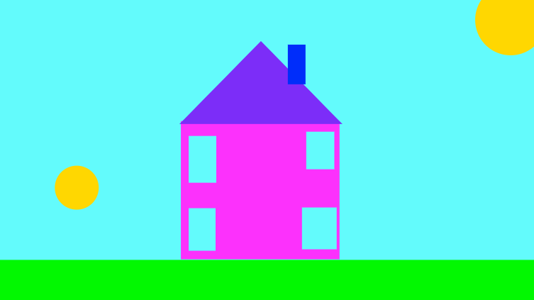 bright colour of house.