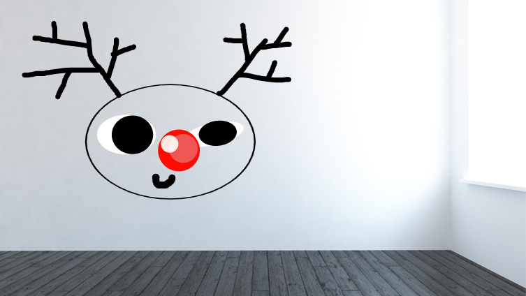 very silly wall reindeer